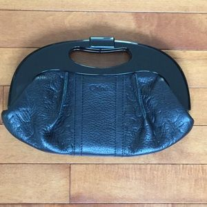 Chloe leather clutch in black